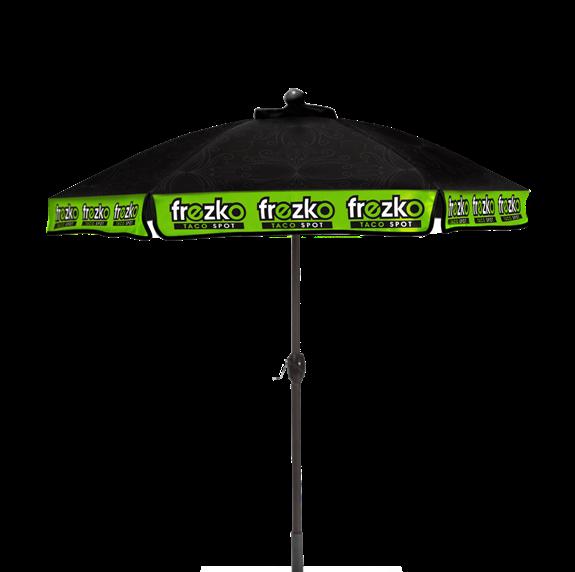 marketing Picnic table umbrella printed