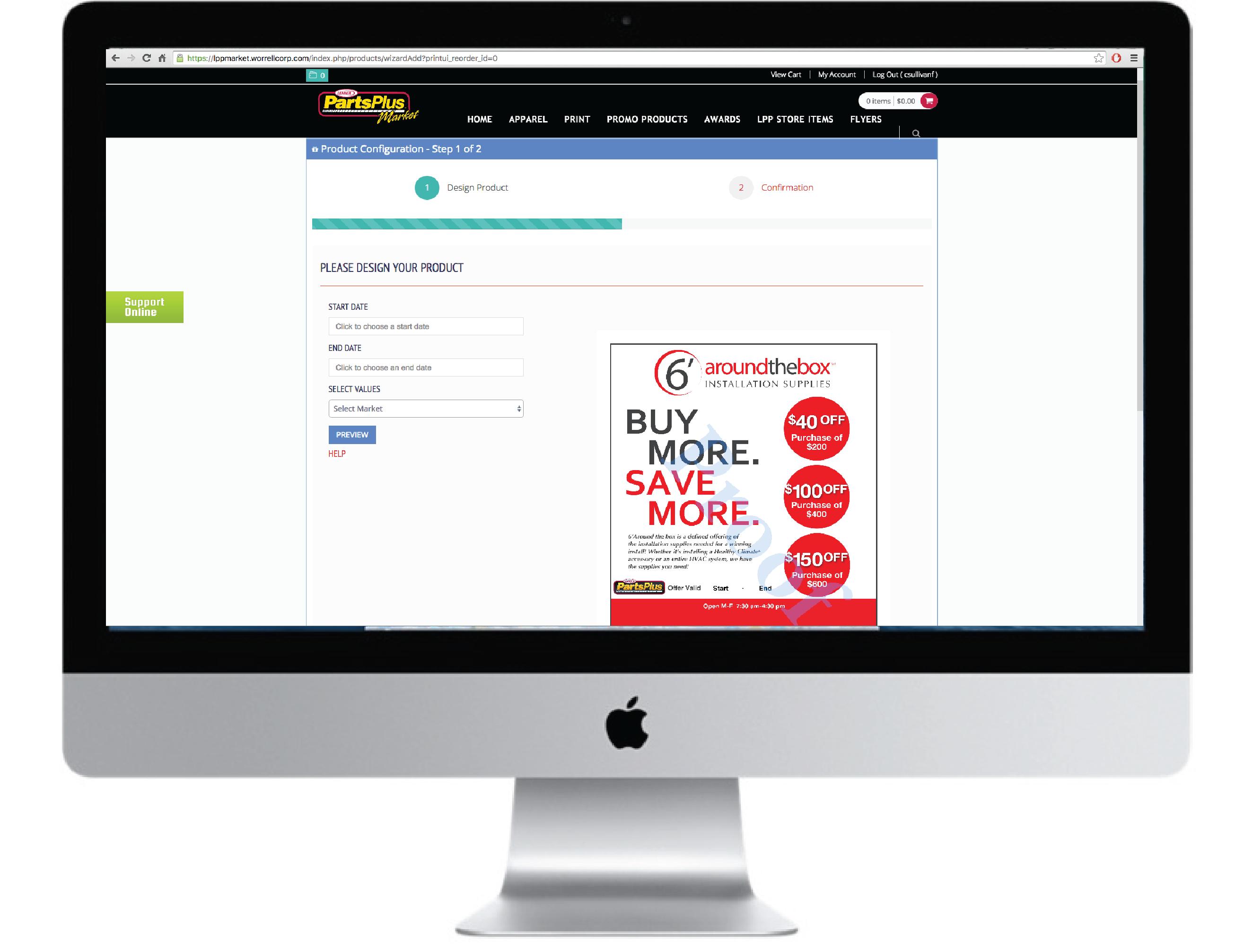 Online print store example